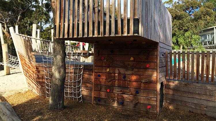 Climbing wall nature playground australia