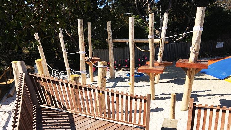 Rope course nature playground problem solving australia