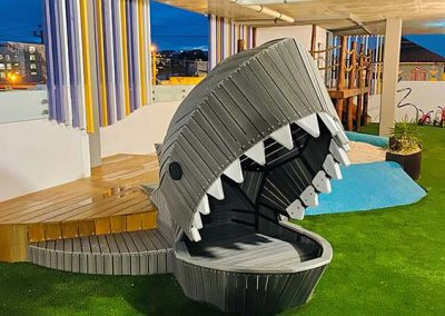 Shark wood nature playground early learning centre