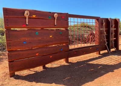 Wooden playground local council shire